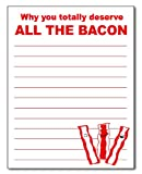 Bacon Notepad 50 Sheets 4.25 X 5.5 Inches Funny Gag Gift