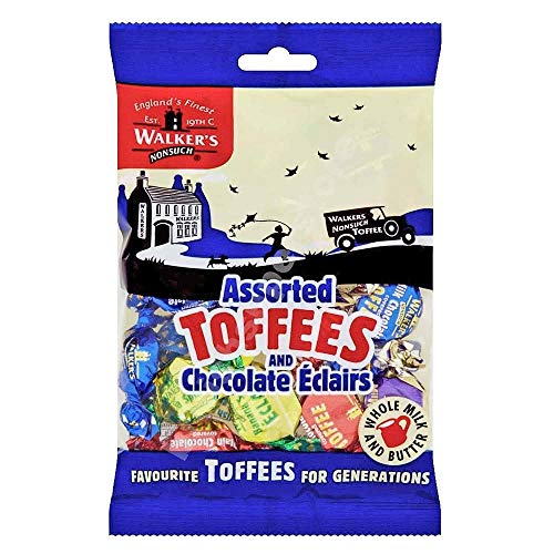 Walkers Assorted Toffees & Chocolate Eclairs, 5.29-Ounce Bags (Pack of 3)