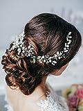 Missgrace Bridal Crystal Long Wedding Hair Vine -Long Crystal Hair Accessories