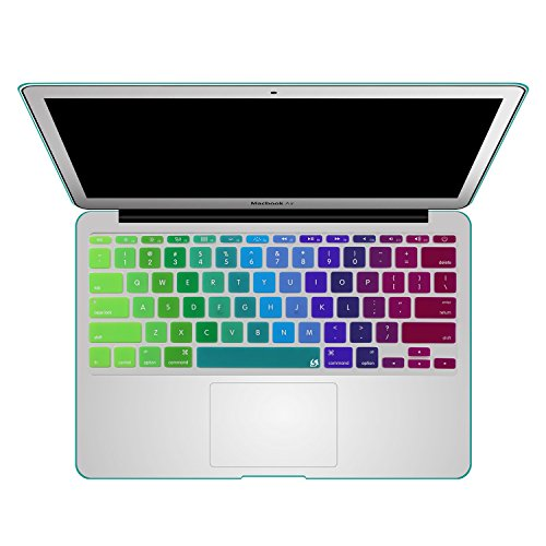 Litop 11inch Rainbow Gradient Silicone Keyboard Cover Skin for APPle MacBook Air 11