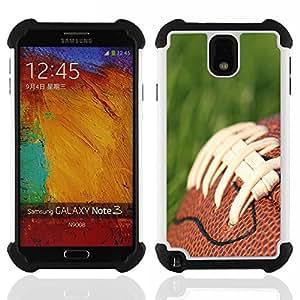 /Skull Market/ - American Football For Samsung Galaxy Note3 N9000 N9008V N9009 - 3in1 h????brido prueba de choques de impacto resistente goma Combo pesada cubierta de la caja protec -