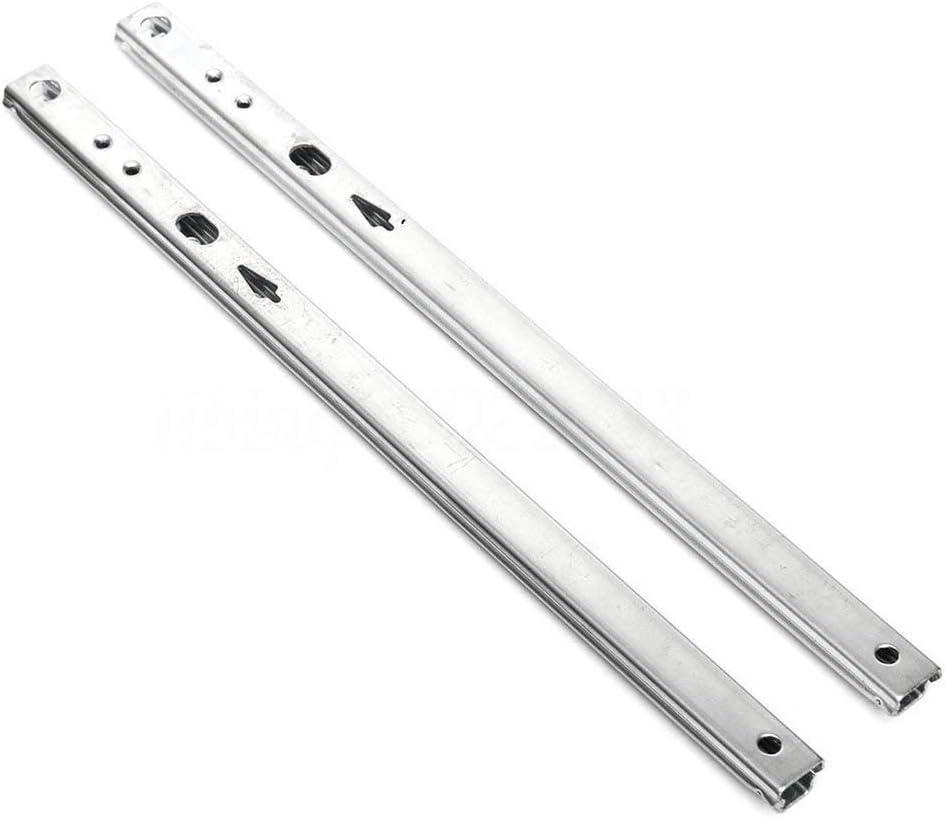 Metal Steel Drawer Runners Side Mount for Desk Wardrobe Doors Keyboard Brackets Cabinets Lockers Home Fittings 182mm