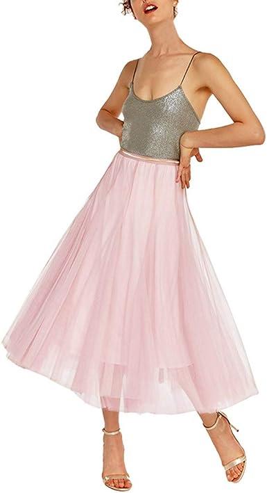 HEVÜY Rock Tütü - Falda de Mujer de poliéster Vintage, tutú ...