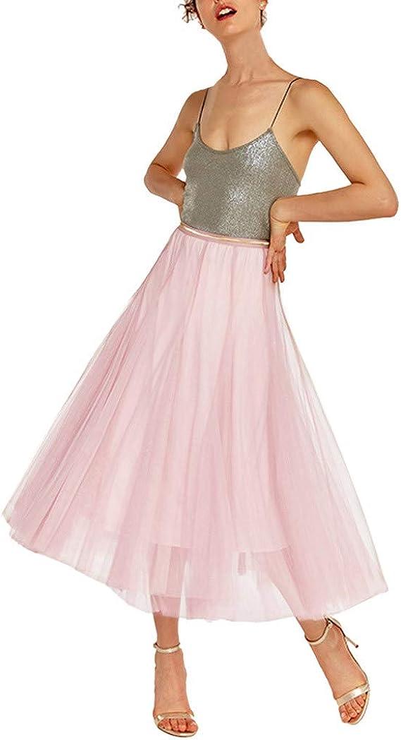 Falda Larga Plisada Mujer Fiesta Elegante Vintage/QIjinlook/Faldas ...