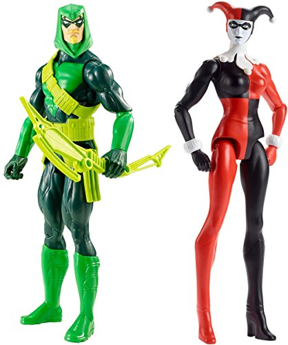 Super Hero Green Arrow vs Harley Quinn 12-Inch Action Figures Toys