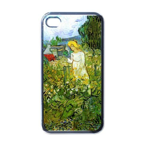 - Marguerite Gachet In The Garden By Vincent Van Gogh Black Iphone 4 - Iphone 4s Case