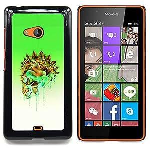 """For Nokia Lumia 540 Case , Verde Cristal Oro Blanco Cráneo del veneno"""" - Diseño Patrón Teléfono Caso Cubierta Case Bumper Duro Protección Case Cover Funda"""