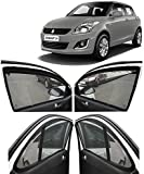 Autofact Car Accessories Zipper Magnetic Sunshades Compatible for Maruti Swift 2012 to 2017