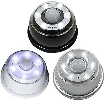 Linxor France ® Lampe détecteur de mouvement 6 LED infrarouge - Trois coloris - Norme CE EGK