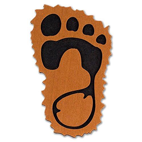ToeJamR Stomp Pad - Furry Yettie - Brown - Right by ToeJamR
