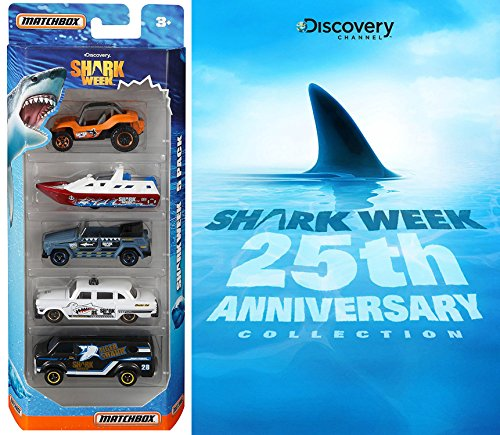 Shark Week: 25th Anniversary DVD & Matchbox Shark Week Exclusive Discovery Channel 5 car Special Edition set Movie Set