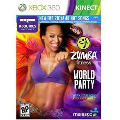 Majesco O1805 Zumba Fitness World Party Fitness Game DVD-ROM Xbox 360 (Fitness Monitor Microsoft)