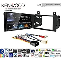 Volunteer Audio Kenwood DDX9704S Double Din Radio Install Kit with Apple Carplay Android Auto Fits 2000-2005 Ford Thunderbird, 2000-2006 Lincoln LS