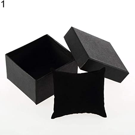 RIsxffp Caja de Almacenamiento,Caja de Regalo de cartón Presente Caja para Brazalete Joyas Anillo Pendientes Reloj de Pulsera Black: Amazon.es: Hogar