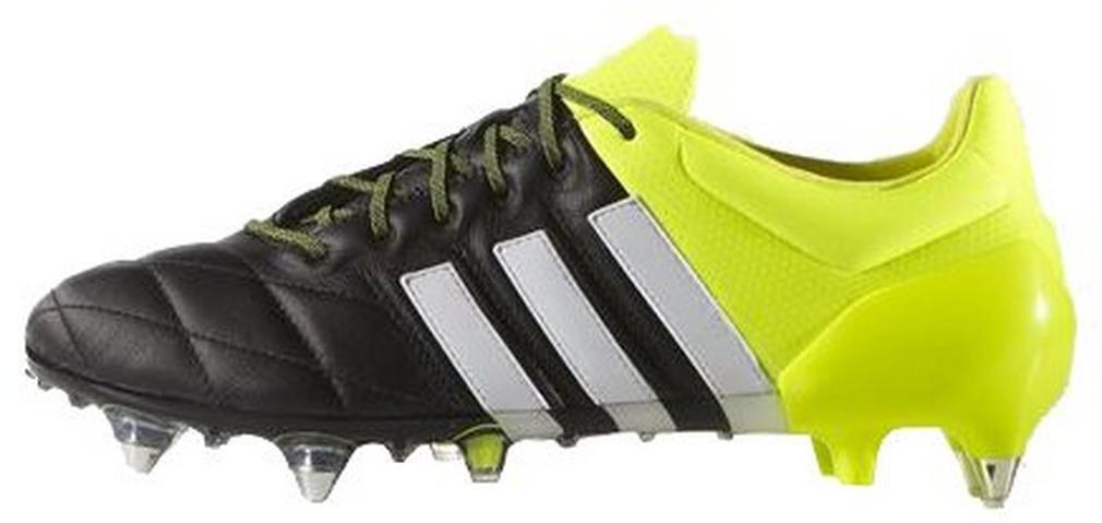 adidas Performance ACE 15.1 SG Chaussures de Football Homme Cuir Jaune