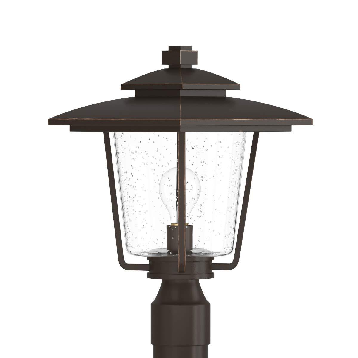 Park Harbor PHEL1303ORB Ivy Cottage 16'' Tall Single Light Outdoor Post Light