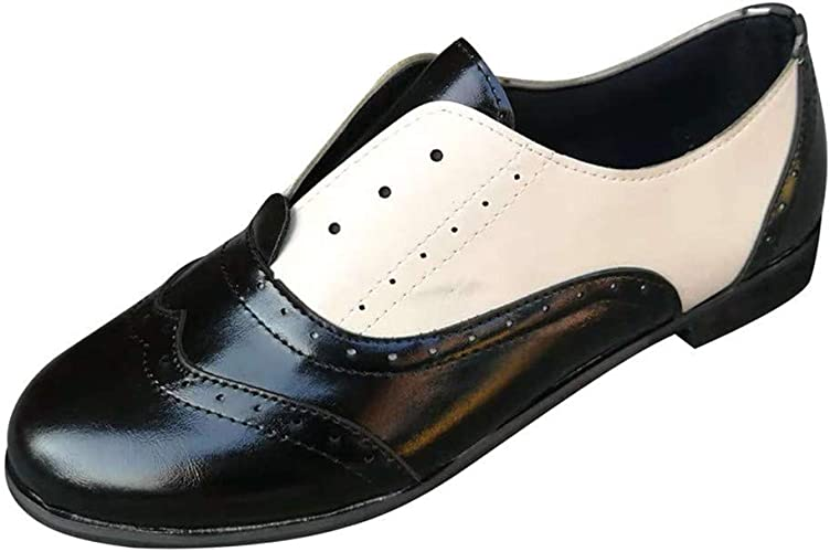 DecoStain Womens Classic Penny Loafers Slip On Chunky Heel Oxford Dress Shoes Comfort Driving Office Loafer Shoes