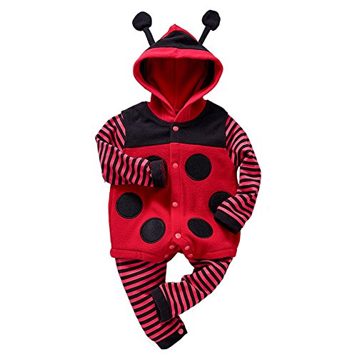 MagicQK Infant Costume Christmas Bee Toddler Costumes Baby LadyBird Jumpsuit for Newborn to 18-Month (6-12 Months/26