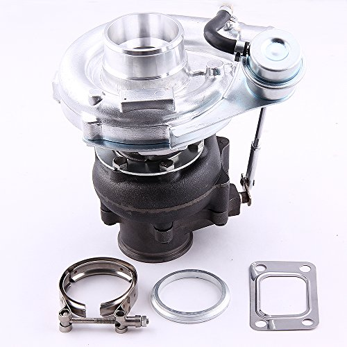 Price comparison product image maXpeedingrods Hybrid T3 T4 T03 T04 T04E Universal Turbo Turbocharger for 4 / 6 Cylinder 2.0L-3.5L Engines Oil Cooled Turbine 0.63 A / R