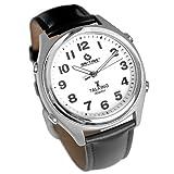 ATOMIC! Talking Wrist Watch w/Alarm,Speaks Time, Day,Date & Year