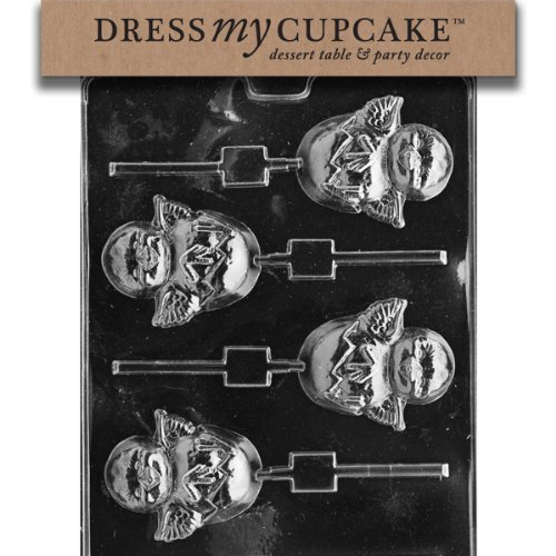 (Dress My Cupcake DMCE402 Chocolate Candy Mold, Hatching Chick Lollipop, Easter)