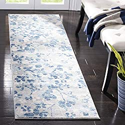 "Safavieh Evoke Collection EVK236J Vintage Floral Grey and Light Blue Area Rug 2'2"" x 4'"