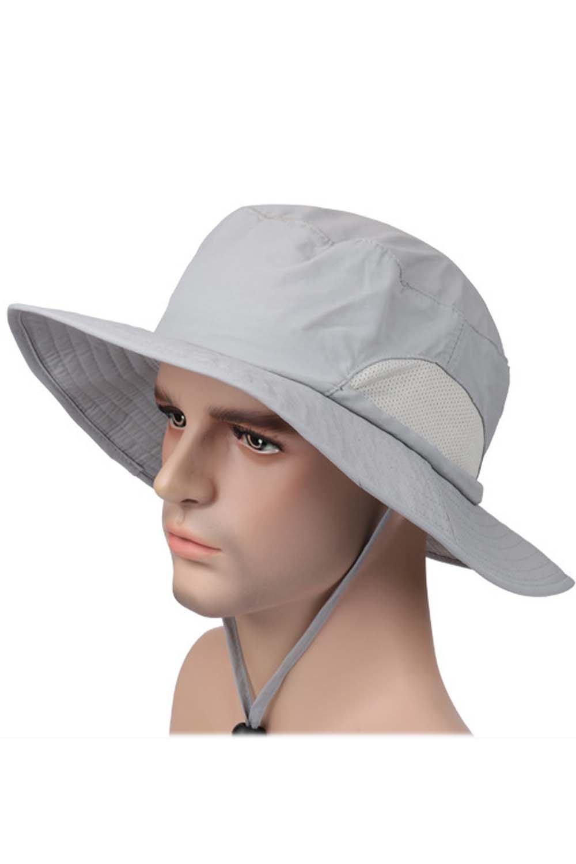 Beetest-EU-Unisex Adulti Largo Tesa Sole UPF 50+ Protezione Secchio Cappello Berretto con Regolabile Mento Cordone