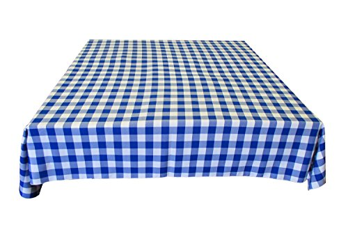 lovemyfabric Gingham/Checkered Square 100% Polyester Restaurant Style Tablecloth/Overlay for Country Style Picnic, Park Party (36