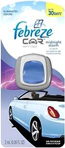 Febreze Car Vent Clips Air Freshener, Midnight Storm