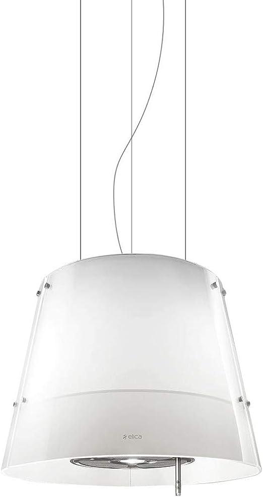 Elica Grace 480 m³/h Decorativa Blanco - Campana (480 m³/h, Recirculación, 65 dB, Decorativa, Blanco, Vidrio, Acero inoxidable): Amazon.es: Hogar