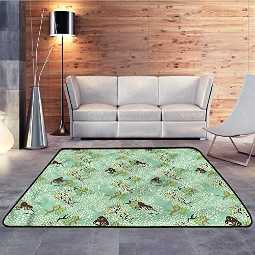 All Weather Floor mats,Nature,Jungle Motif with MonkeysW 47