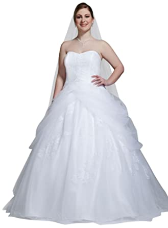f0864fc8331 SAMPLE  Tulle Ball Gown Wedding Dress with Lace-Up Back and Side Swags Style