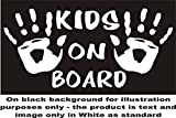 Childrens Hand Print Kids hands Child on Board Sign sticker Car Bumper Sticker house window stickers each sticker approx 7.5x5.5' size WHITE Sent as standard