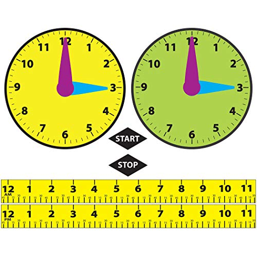 Ashley Productions Math Die-Cut Magnetic Elapsed Time Teaching -