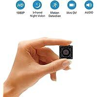 Mini Cámara Espía Full HD 1080P de Supoggy. Cámara Portátil Pequeño Tamaño con Visión Nocturna, Grabación y Detección de Movimiento en Hogar, Automóvil, Drone, Oficinas. Apto para Uso en Exteriores