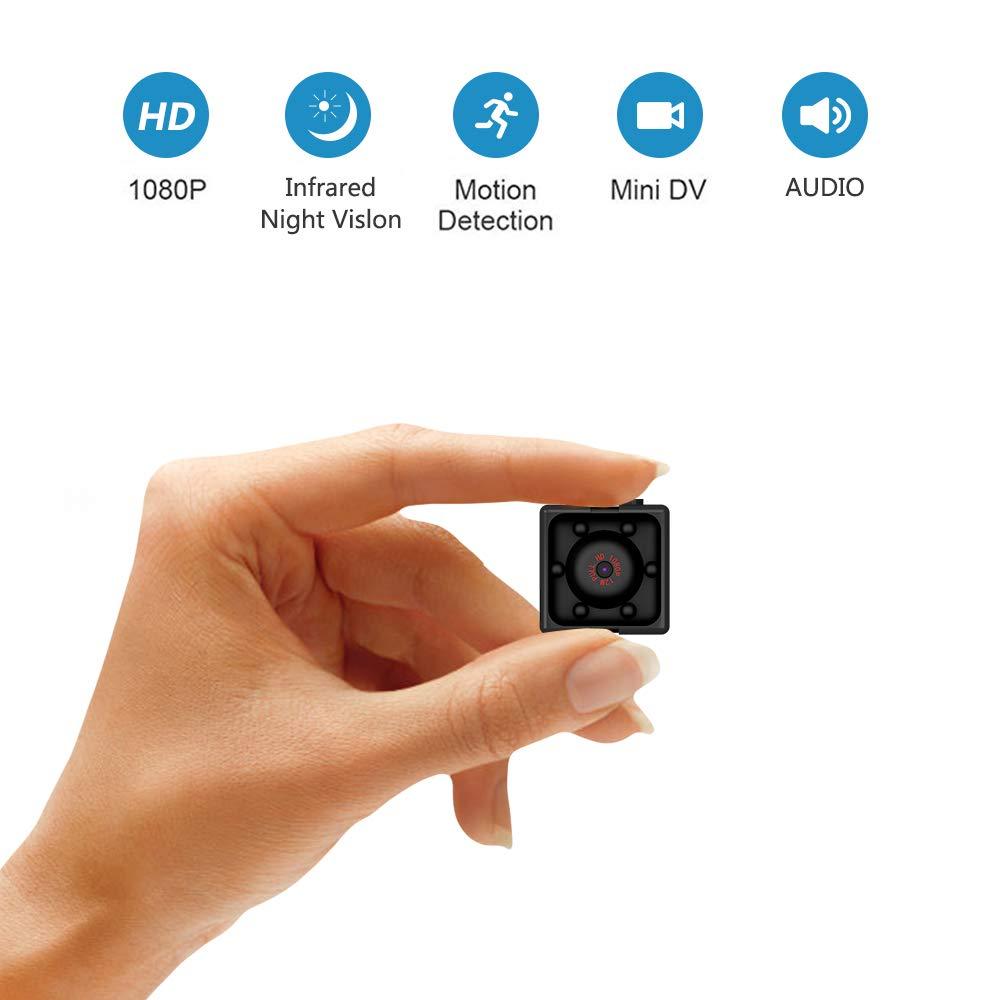 Supoggy Mini Cámara Espía Full HD 1080P Cámara Portátil Pequeño Tamaño con Visión Nocturna, Grabación y Detección de Movimiento en Hogar, Automóvil, Drone, Oficinas. Apto para Uso en Exteriores product image