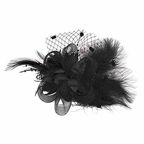 Kentucky Derby Costume (Womens Sinamay Fascinator Hat Flower Kentucky Derby Hat Tea Party Headwear)