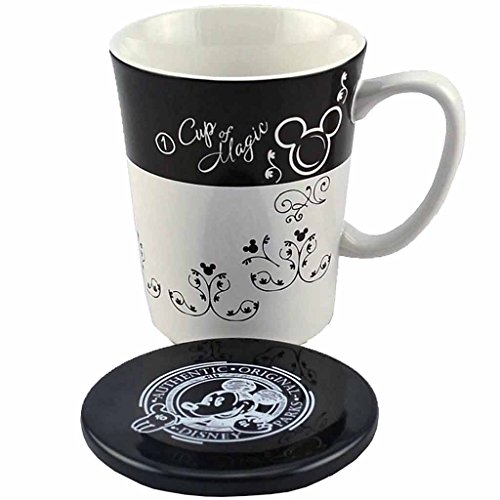 Disney Parks Gourmet Mickey Mouse Soup Cup - Coffee Mug with Lid - Boxed