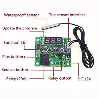 50-110°C Controller Temp Heat Cool ON Temperature Control Module OFF Digital