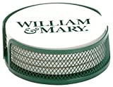 Thirstystone VWMC-HA26 Stoneware Drink Coaster Set with Holder, William and Mary College