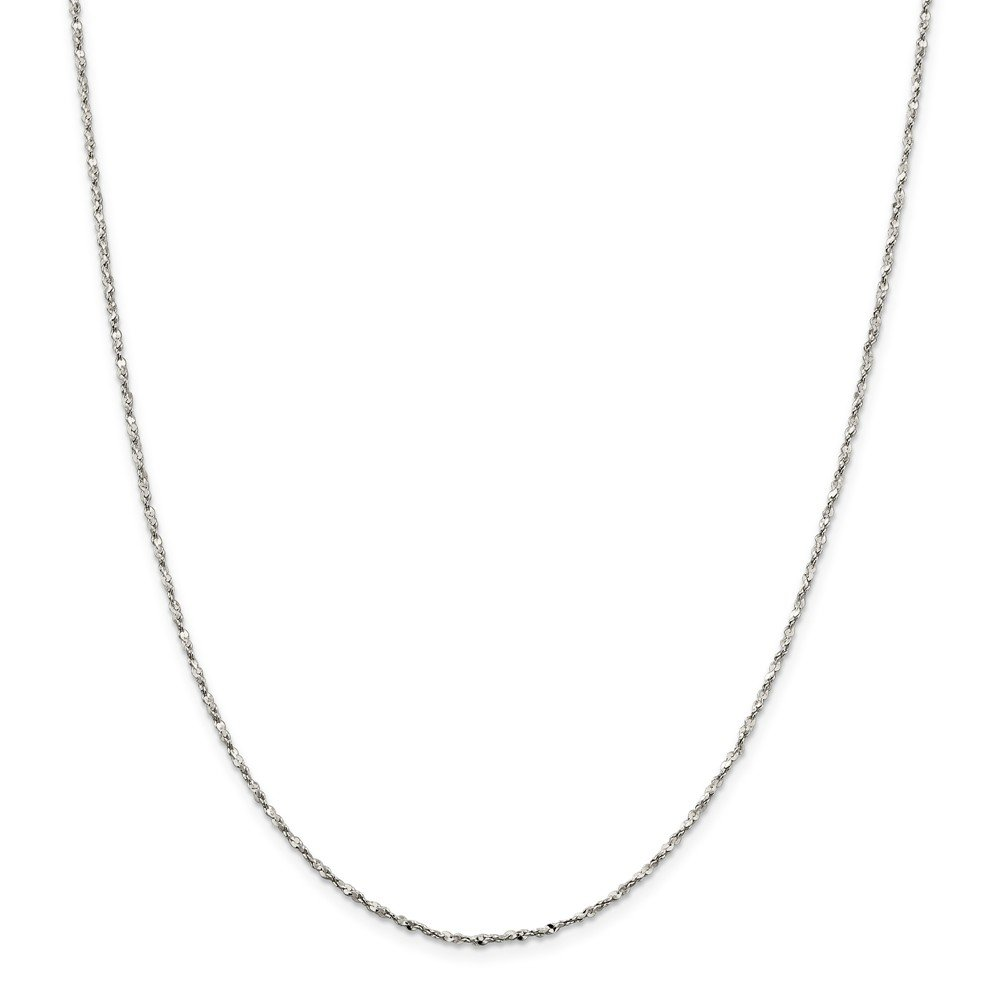 925 Sterling-silver 1.6mm Twisted Serpentine Chain Necklace