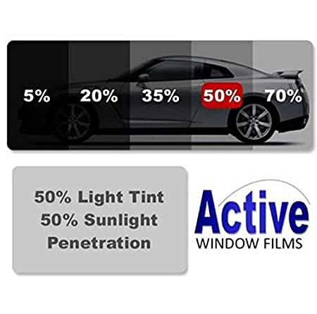 Active Film Limo Black Light /& Ultra Light Car Auto Tint Window Tinting Film 5/% Limo Black 8mx76cm Medium