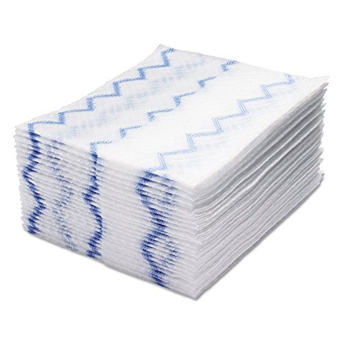 Rubbermaid 1928023 HYGEN Disposable Microfiber Cleaning Cloths White/Blue 12.2 x 14.3 640/Pack by RCP1928023