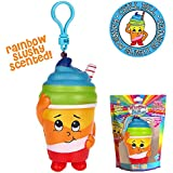 Whiffer Squishers 'Chill Bill' Slow Rising Squishy Toy Rainbow Slushy Scented Backpack Clip
