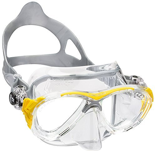 Cressi Eyes Evolution Scuba Diving Snorkeling Mask (Made in Italy), Clear/Yellow by Cressi by Cressi