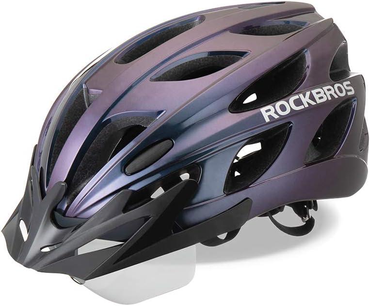 ROCKBROS Casco de Bicicleta MTB Montaña con Visera Magnética Desmontable para Adulto Hombres Mujeres Ciclismo