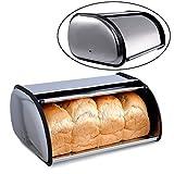 Roll Top Bread Bin, Stainless Steel Bread Box Storage for Kitchen, Bread Bin, Bread Storage Bread Holder(13)