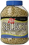 Jolly Time Select Premium White Popcorn Kernels - Whole Grain & Non-GMO, 30 Ounce Jars (Pack of 6)