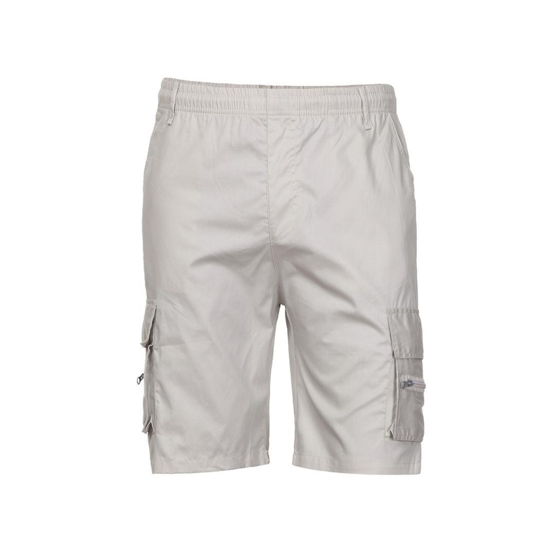 cd0d315ce6 Pervobs Men Shorts Men's Cargo Shorts Sports Work Casual Elastic Waist Army  Combat Shorts Pants Trousers | Amazon.com