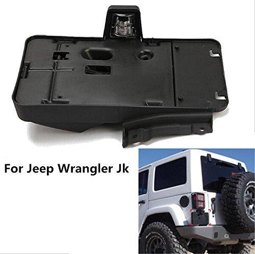 Lantsun America & Canada Black Plastic License Plate Frames Brackets Black Plastic License Plate For Jeep Wrangler JK J114
